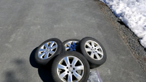 4 VW alloy's with X-Ice tires