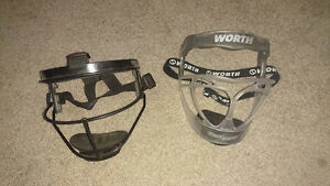 Worth Softball mask and Nike ball shoes