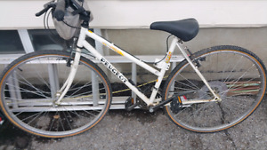 Vintage Peugeot Urbano Pro 21 speed womens bike. White.