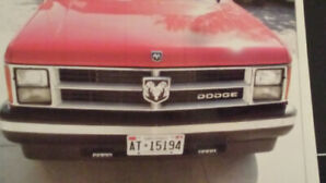 1990 Dodge Dakota Convertible with Original Chrome Front Bumper