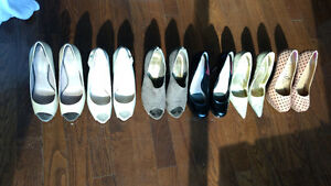 Gorgeous collection of high heels size 9.5/10 or 40