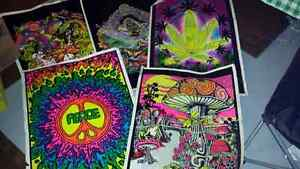 5 Psychedelic Posters...some damage