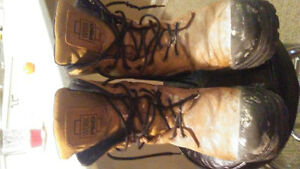 Steel toe construction boots