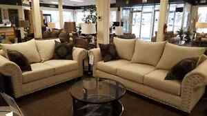 Beverly Sofa and Loveseat
