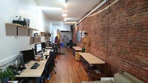Desk at Gastown Coworking studio
