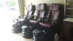 3 Petra Pedicure Chairs