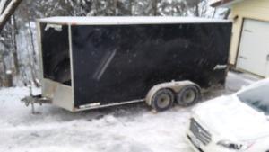 2014 7x16 V-nose cargo trailer rear ramp