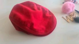 Vintage wool Burberry London newsboy flat cap
