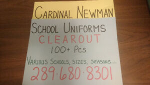 Cardinal Newman Uniforms. 50+ Pieces Remaining. Great Condition.