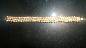White Sapphire and 14K Gold filled Bracelet