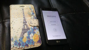 2017 LG K4 with wallet case