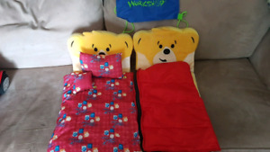 2 Build a Bear beds with accessories