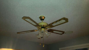 Ceiling fan with lights. Excellent condition.