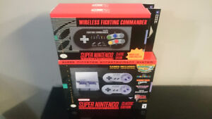SNES classic edition with 2 wireless controllers.