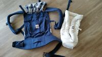 BARELY USED ERGOBABY CARRIER WITH INFANT INSERT
