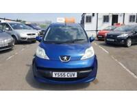 2005 Peugeot 107 Hatch 3Dr 1.0 12V 68 Urban Petrol blue Manual