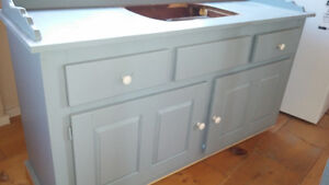 "58"" vanity repainted, will include countertop"