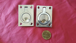 2 Marine  Surface Polished Stainless Steel Pull Lift Ring