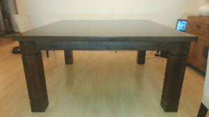 "Dining Table - Custom 60""x 60"" square, seats 8 - Medium Hickory"