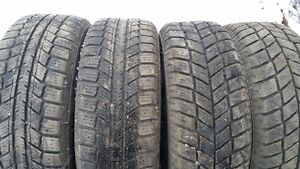 4-195/55x15 M+S tires on Civic/Acura Yaris alloy rims 4x100