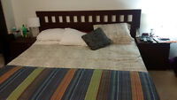 Full Kingsize bedroom set with Matress and bed frame