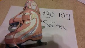 Kid's Softec ice skates - Girl's size 10J