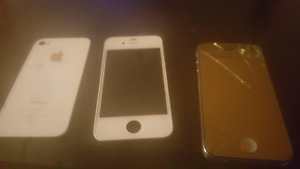 Gold Iphone 4 with original screen as well, $20
