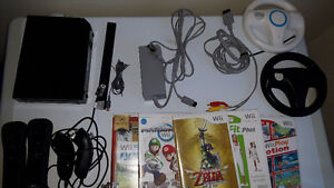 Nintendo WII with games and balance board