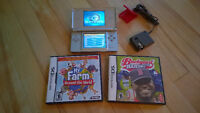 SILVER NINTENDO DS Lite with 3 DS games and charger