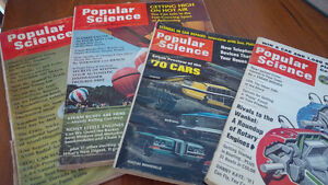 5 Issues of Popular Science, 1952, 1967, 1969, 1970, 1972