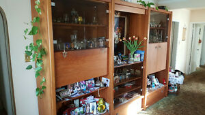 Teak Wall Unit, Dining Suite & Bedroom Dresser