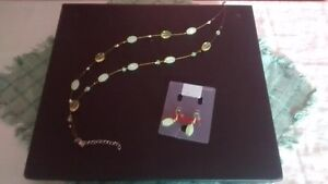 3 sets of Ardene necklaces, 2 with matching earrings