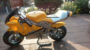 yellow and blue pocket bike for sale