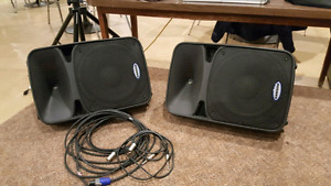 Samson Auro D12s with Amp/Cables