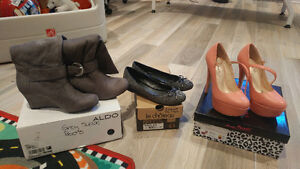 Aldo, Le Chateau and Anne Michelle shoes, sold in package