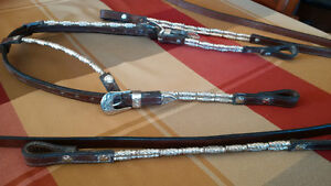 Western Show Headstall/Bridle with Matching Reins