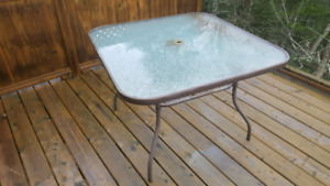 Patio Glass Top Table 40 OBO