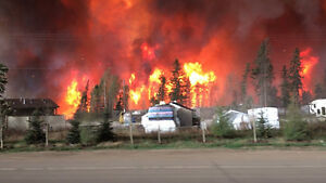 IN CASE YOU MISSED IT!  FORT McMurray IS BURNING... 1 hour pics