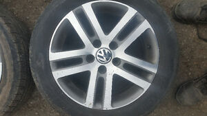OFF 2006 VW JETTA ALLOY RIMS WITH TIRES