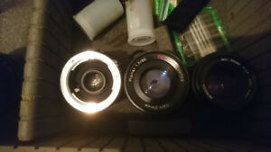 Minolta Camera, Lenses, Case $750