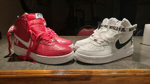 Nike Air Force 1 Supreme Special Édition Red and White