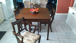 Goliath Style Table With 8 Harp Back Chairs and China Cabinet Kitchener / Waterloo Kitchener Area image 3