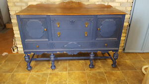 Antique Buffet Solid Wood.$ 450.00 Or Best Offer