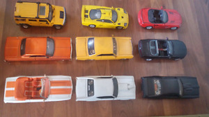 9 Diecast Model Cars 1/25 scale $60th