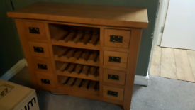 Solid Oak storage cabinet