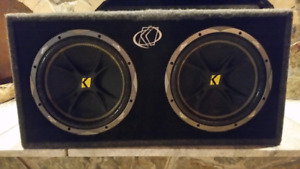 "Dual 12"" Kicker box w/Speakers"
