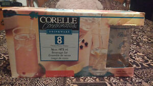 Corelle 16 oz Subtle Blue Glasses (Set of 8) Windsor Region Ontario image 1
