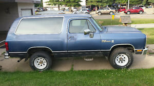 1988 Dodge RamCharger $4000 Firm or possible trade