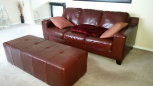 Palliser living room set. 3 pieces. Burgundy high end leather.