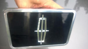 Lincoln 3D Logo Black Infill Chrome Metal Tow Hitch Cover
